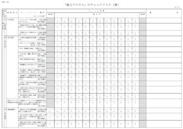 「施工プロセス」のチェックリスト(案)について(4/4)